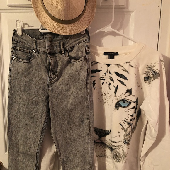 Express High-Waisted Skinny Jeans